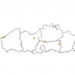 Verspreidingskaart Kruipend moerasscherm