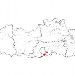 Kaart van de speciale beschermingszones voor: Vliegend hert