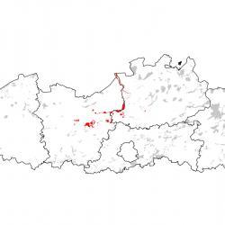 Kaart van de speciale beschermingszones voor: Rivierprik
