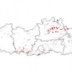 Kaart van de speciale beschermingszones voor: Rivierdonderpad