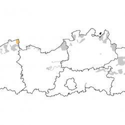 Vogelrichtlijngebieden voor Steenloper. Rood: belangrijk broed-, trek- en/of overwinteringsgebied. Oranje: broed-, trek- en/of overwinteringsgebied met kleinere aantallen.