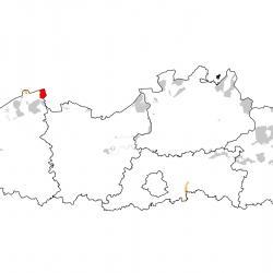 Vogelrichtlijngebieden voor Kleine zilverreiger. Rood: belangrijk broed-, trek- en/of overwinteringsgebied. Oranje: broed-, trek- en/of overwinteringsgebied met kleinere aantallen.