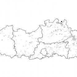 Kaart van de speciale beschermingszones voor: Grote hoefijzerneus