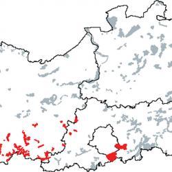 Kaart van de speciale beschermingszones voor: Beukenbossen van het type Luzulo-Fagetum