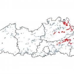 Kaart van de speciale beschermingszones voor: Overgangs- en trilveen