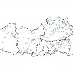 Kaart van de speciale beschermingszones voor: Juniperus communis-formaties in heidevelden of op kalkgrasland