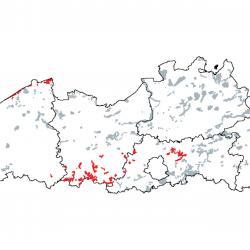 Kaart van de speciale beschermingszones voor: Kalkhoudende oligo-mesotrofe wateren met benthische vegetaties van Chara vegetaties