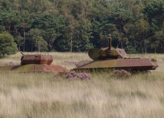 Tank in schietveld © Alex Van Mol